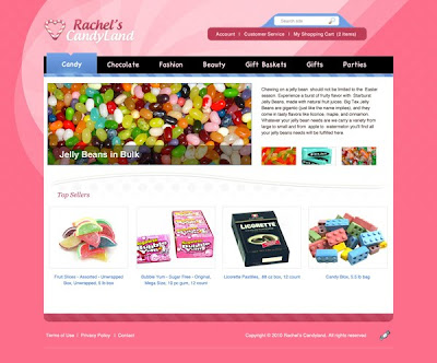 Create a Colorful Candy Store Website Layout