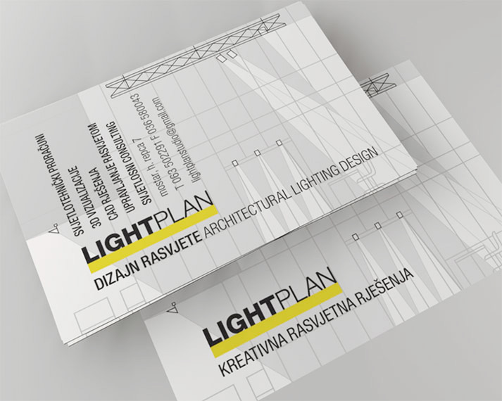 Lighting Design Studio Business Cards