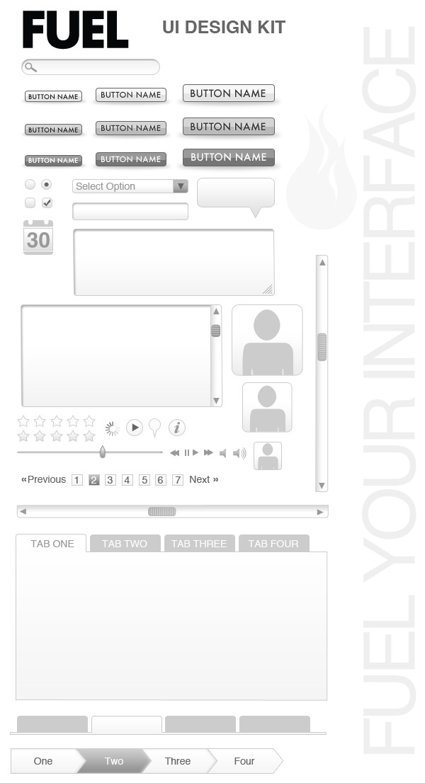 Free Web UI Wireframe Kit
