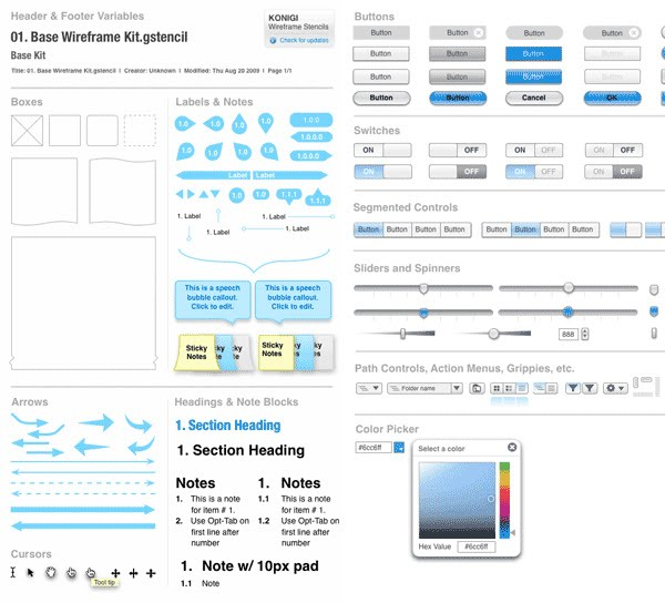 Free Web UI Wireframe Kit for Better Web Design