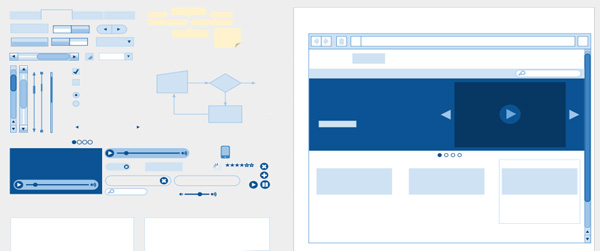 A wireframe kit for Google Drawings