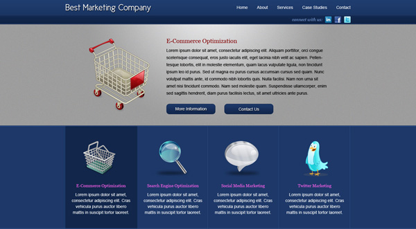 Blue Marketing Company Layout