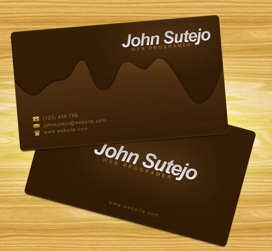 Create a Molten Chocolate Business Card in Photoshop