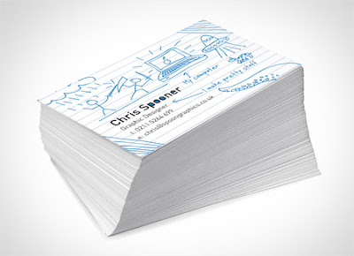 Create a Fun Print-Ready Doodled Business Card Design