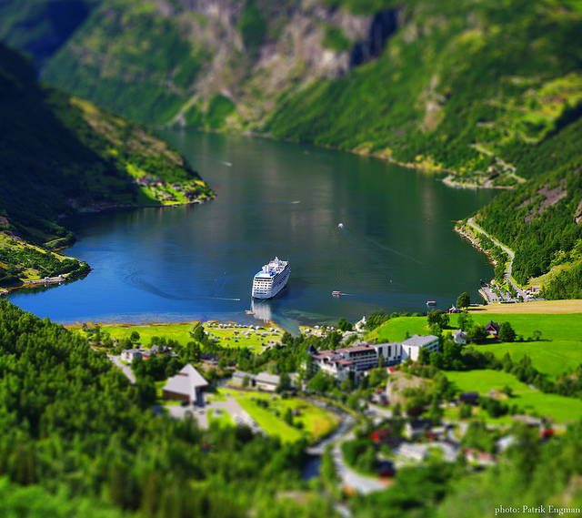 Macro of Geiranger