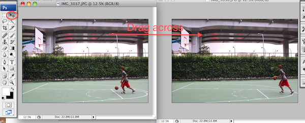 Creating an Action Sequence Photo in Photoshop