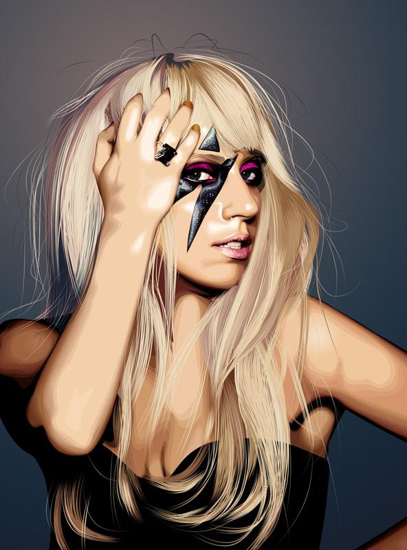 Lady Gaga Vexel Art
