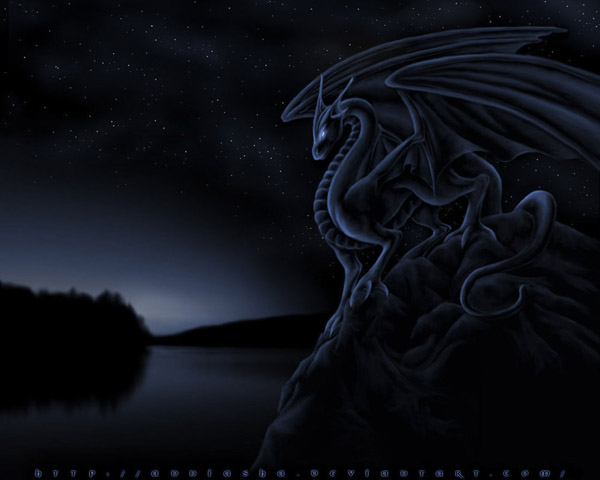 Midnight Dragon Wallpaper