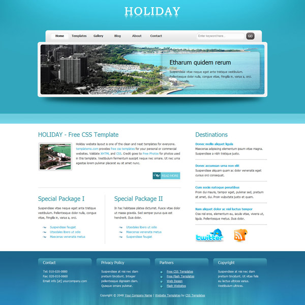 Beautiful High Quality CSS/XHTML Website Template Seen On  www.coolpicturegallery.us