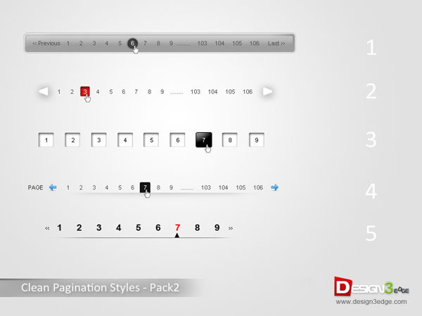 Clean Pagination Styles – Pack2