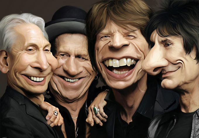 rollingstone1 25 Hilarious Digital Caricatures Of Famous People