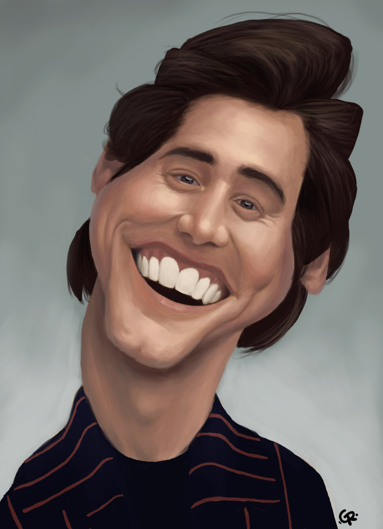 Jim Carrey caricature by GuillermoRamirez17 25 Hilarious Digital Caricatures Of Famous People