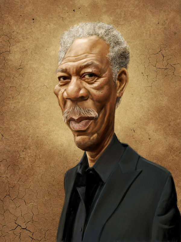 Morgan Freeman by markdraws20 25 Hilarious Digital Caricatures Of Famous People