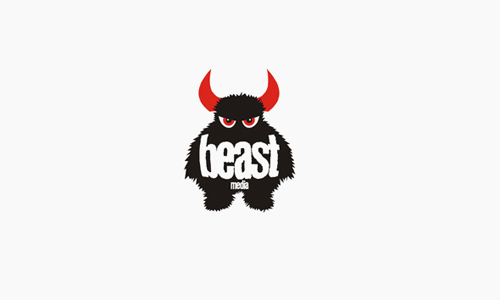 beast35 40 Creative Illustrations In Logo Design