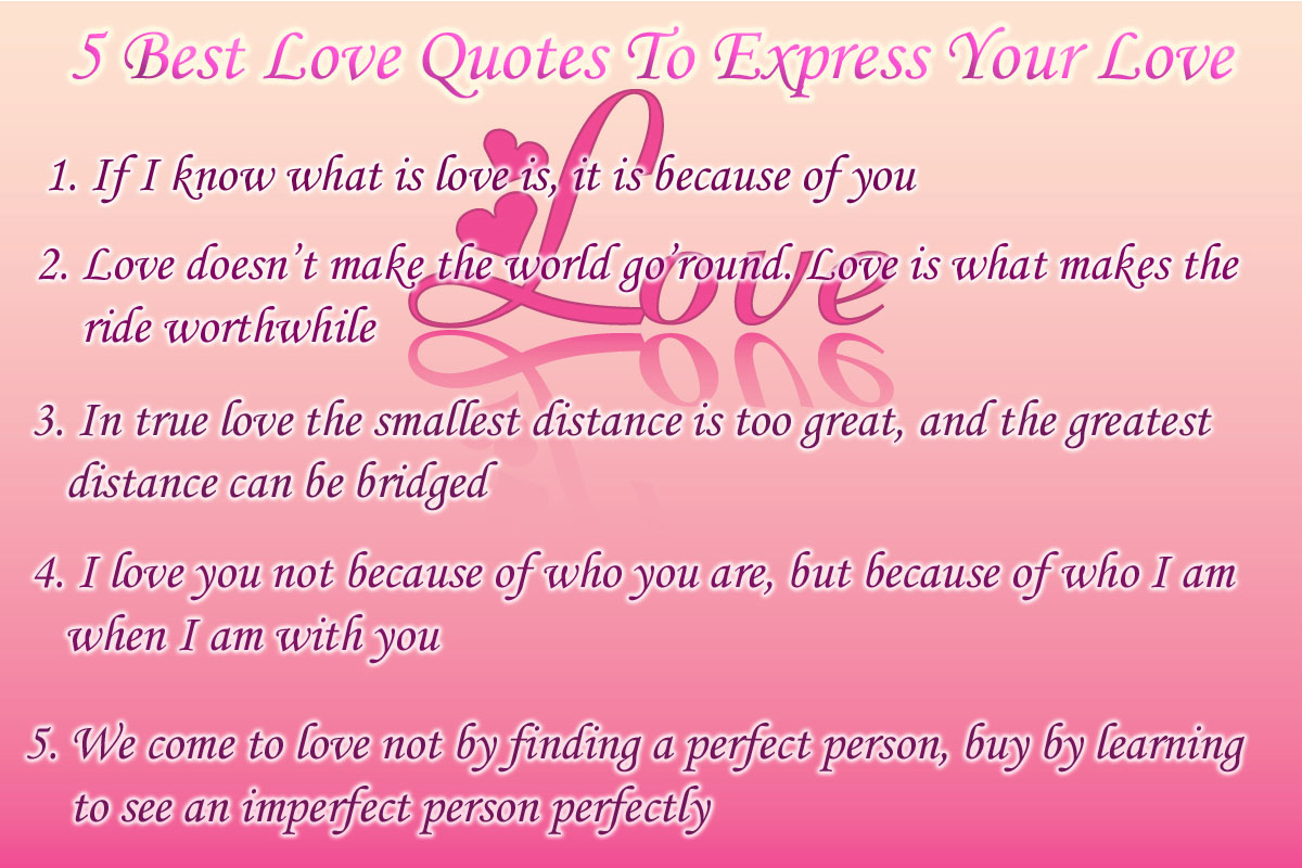 Love U: 5 Best Love Quotes To Express Your Love