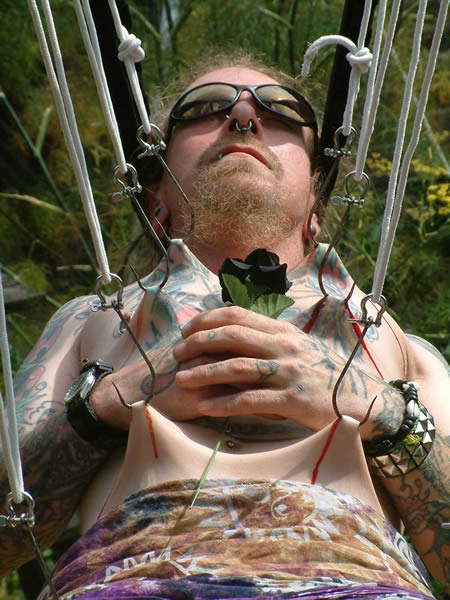Body Suspension - Weird Picture Of Man