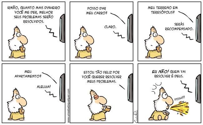 Deus Quot Assistindo Televisao Piada De Neopentecostal