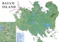 Map Batam Island