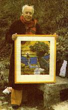 Parrainage par M. Loukine pour le tableau 'Longue a été la nuit', exposé au musée d'Arsonval, (F)