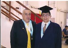 Dr. Francisco Carruitero Lecca junto a su alumno del Doctorado en Derecho