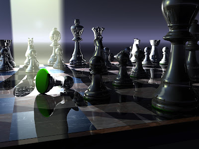 Chess Wallpapers: 3d chess board color black