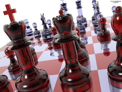Chess Wallpapers: chess board color red
