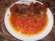 Пилешки пържоли с доматен сос