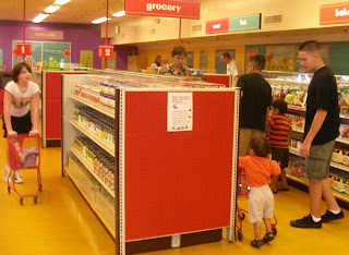 Shopping in the Kid's Grocery Store
