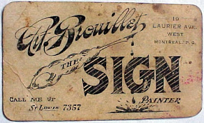 Anonymous works early 1900s calling card for a sign painter early 1900s calling card for a sign painter colourmoves