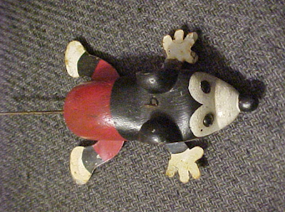 Anonymous works folk art carved mickey mouse fishing lure for Mouse fishing lure