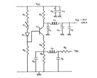 TV RF Power Amplifier 14W circuit