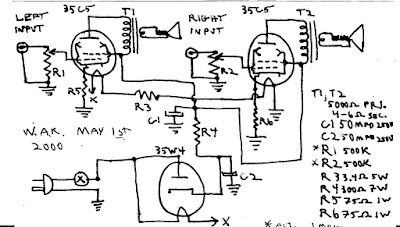 3 tube amplifier 1 circuit
