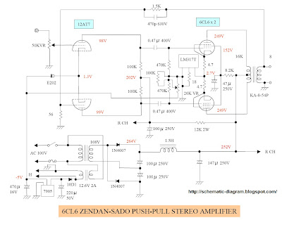 6CL6+PUSH-PULL+TUBE+AMPLIFIER Radio S Schematic Diagrams on am tube radio, digital multimeter, samsung lcd tv, sony tv, hvac system, computer circuit board,
