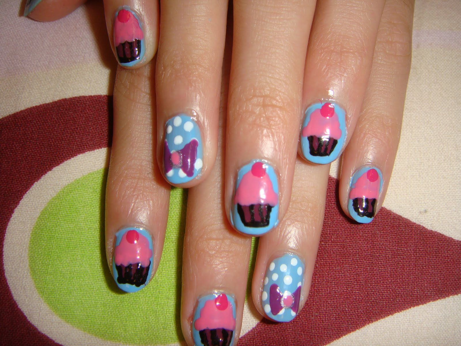 cupcake nail designs ideas-9
