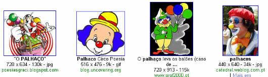 Imagens de palhaços no Google