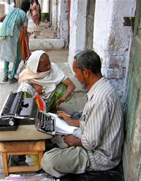 Escritor de cartas indiano