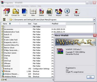 WinRAR 3.80 Beta 3 Portable