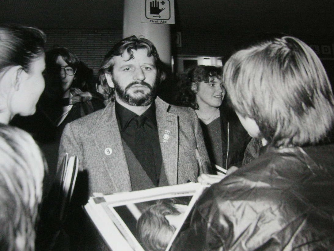 In March Of 1976 Ringo Went To Hamburg Germany And Gave Some Interviews Here Are Photos Being Followed By Fans What Appears The An