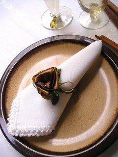 porta guardanapos de flor de tecido