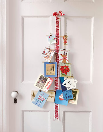 Mad about pink christmas card display ideas for How to make christmas card holders wall