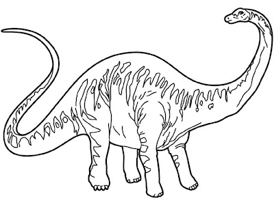 Coloring pages dinosaur coloring pages i for Diplodocus coloring page