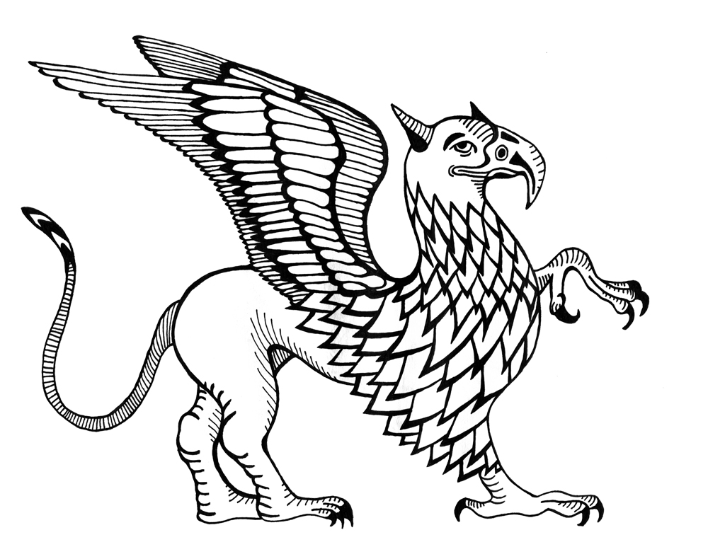 James nicholls illustration griffin for Griffon coloring page
