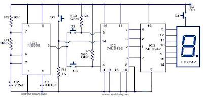 integrated scoring game circuit