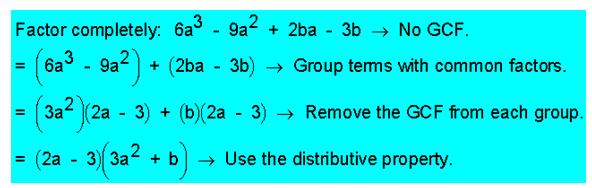 Factor by grouping | Online Math Homework Help