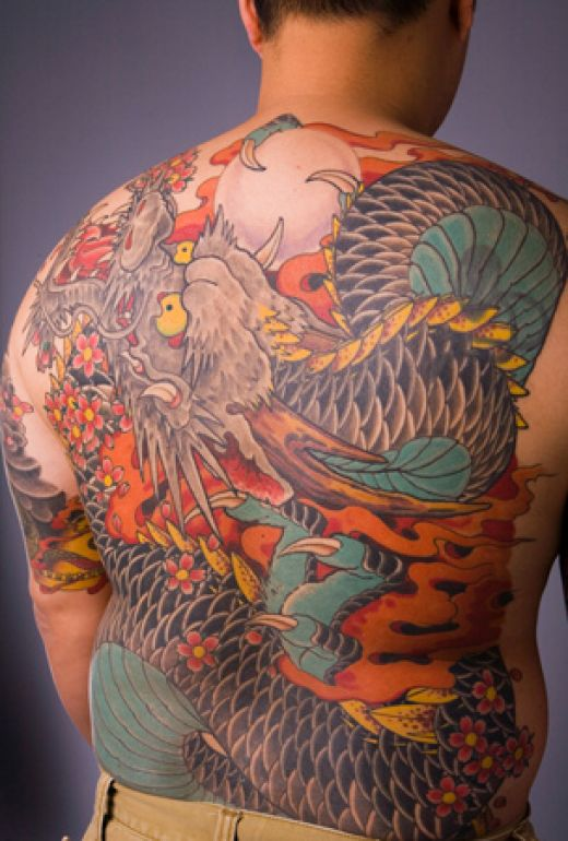 tribal sun tattoos on back shoulder man