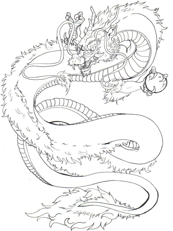 chinese dragon tattoo drawing. Japanese Dragon Tattoo Design