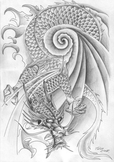 dragon tattoo art latest. Traditional Japanese Tattoo Design