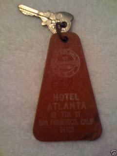 Vintage Hotel key and key fob