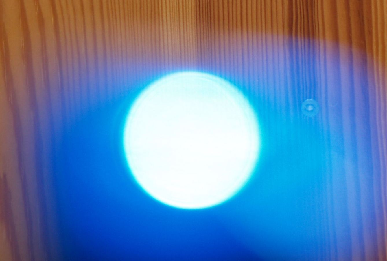 Blue Orb Infused By White Light Energy And Changing Shape