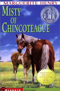 Book Cover Art from Misty of Chincoteague by Marguerite Henry